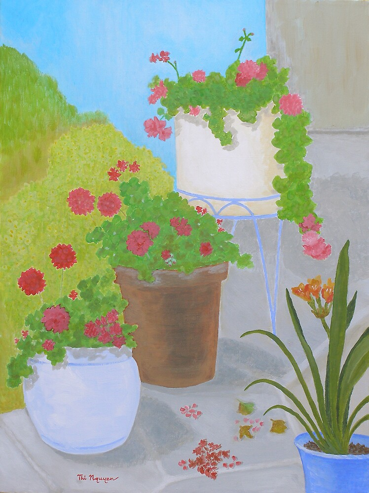 Pots and Flowers by Thi Nguyen