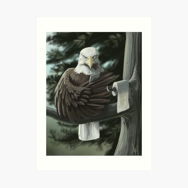 Eagle on the Throne Art Print