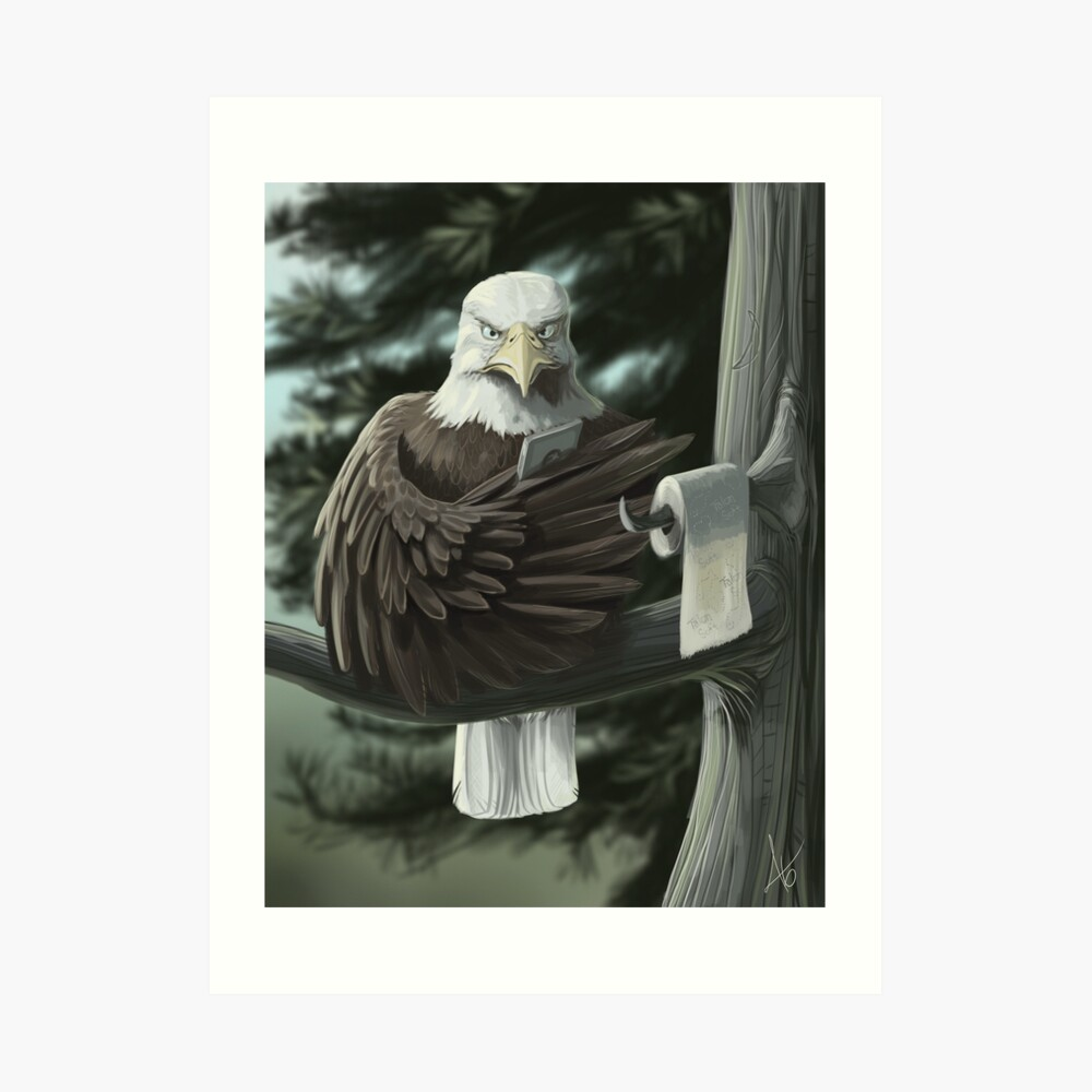 Eagle on the Throne Art Print