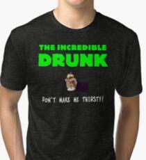 The Incredible Drunk (dark shirts) Tri-blend T-Shirt