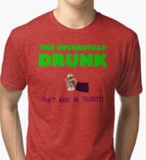 The Incredible Drunk (light shirts) Tri-blend T-Shirt
