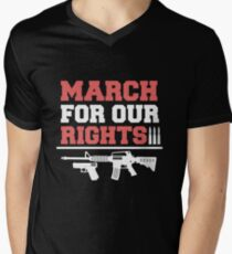 March For Our Rights Shirt - Pro Gun Shirts Men's V-Neck T-Shirt