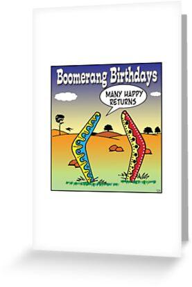 boomerang birthdays by Mark  Lynch
