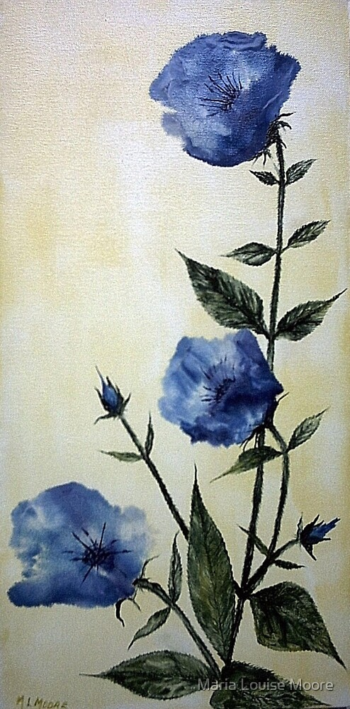 Blue Poppies by Maria Louise Moore