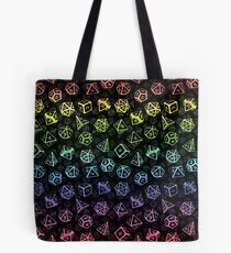 D20 Würfel Set Muster (Regenbogen) Tote Bag