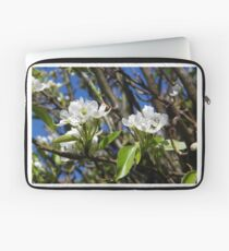 Cherry Tree, White Blossoms Laptop Sleeve