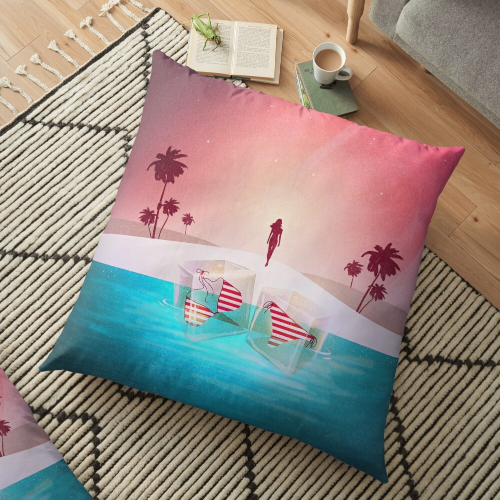 Bikini Beach Floor Pillow