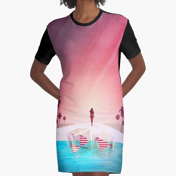 Bikini Strand T-Shirt Kleid