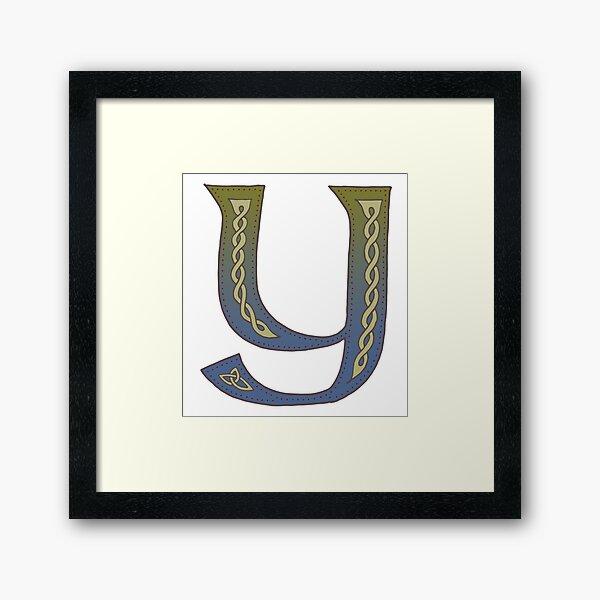 Celtic Knotwork Alphabet - Letter Y Framed Art Print