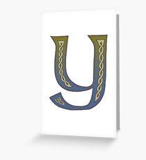Celtic Knotwork Alphabet - Letter Y Greeting Card