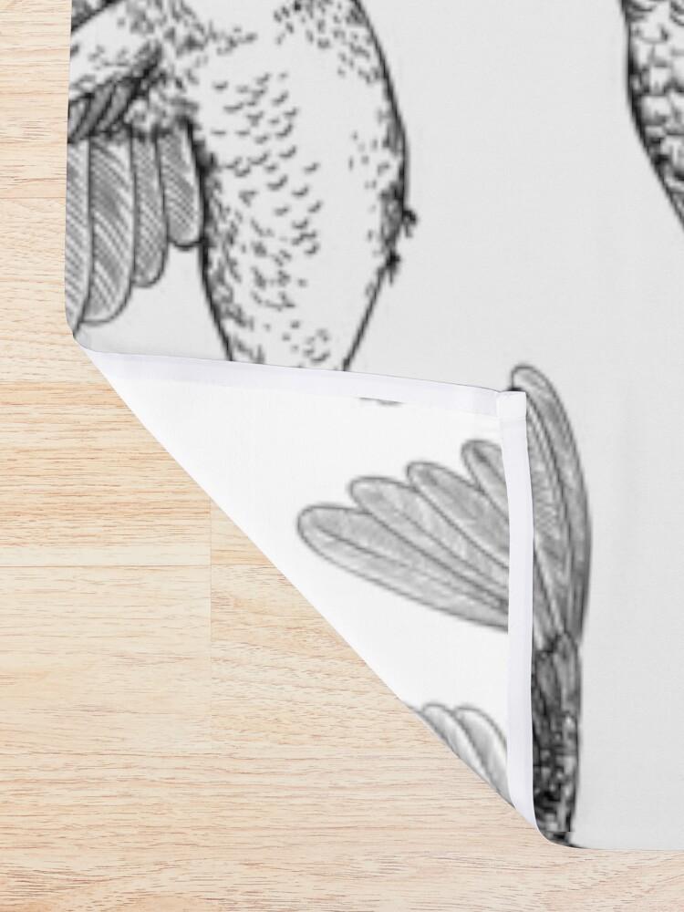 Alternate view of Hummingbirds  Shower Curtain