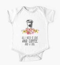 all I need is love and coffee t-shirts One Piece - Short Sleeve