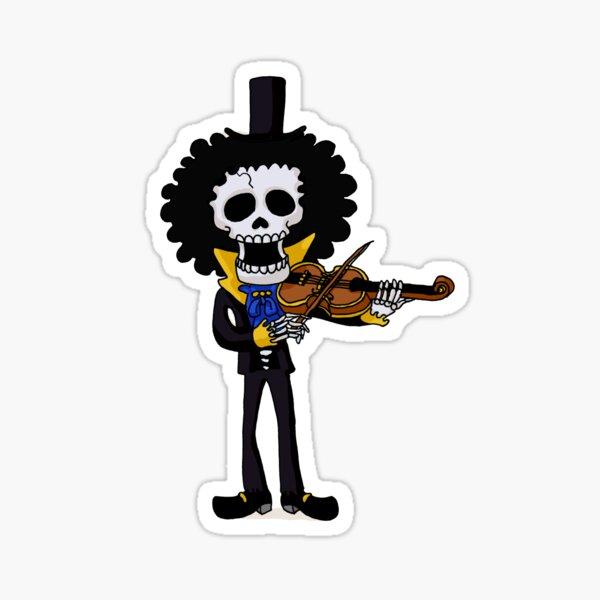 Brook squelette pirate Sticker