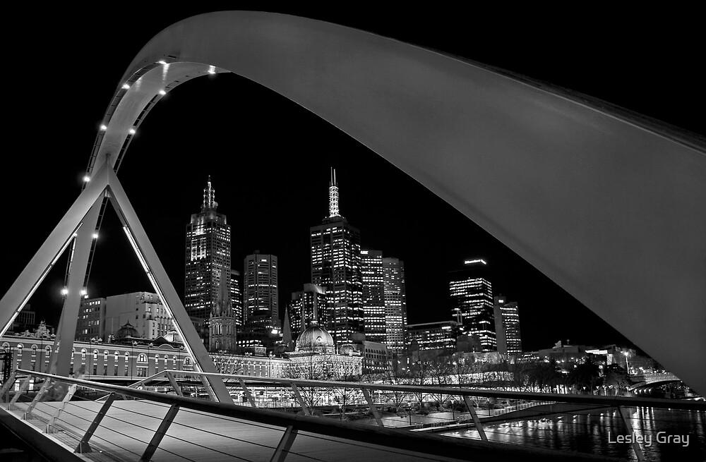 Bridge over Yarra River by Lesley Williamson
