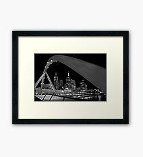 Bridge over Yarra River Framed Print