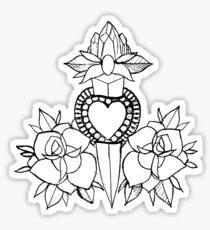 cheats drawing stickers redbubble GTA 4 Cheats Tank Xbox tattoo design with knife heart roses sticker