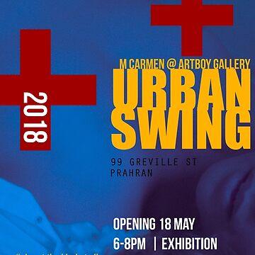 Urban Swing Exhibition Poster (satirical alternative) by MCANTO