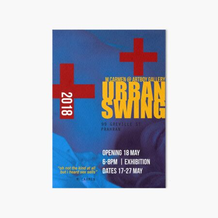 Urban Swing Exhibition Poster (satirical alternative) Art Board Print