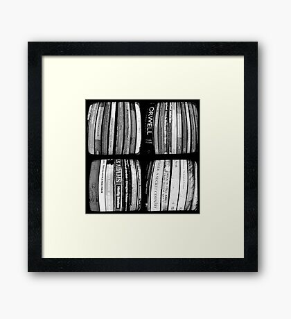 The Bookshelf Framed Print