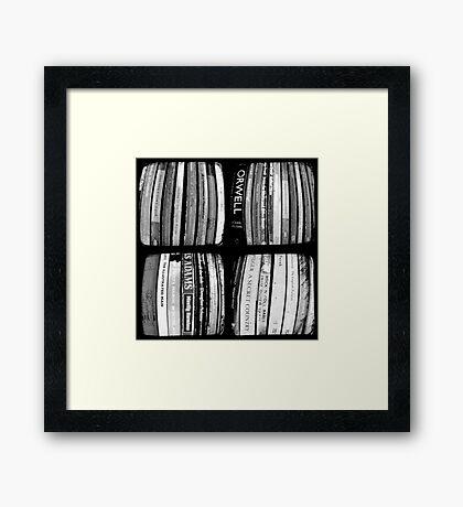 The Bookshelf Framed Print