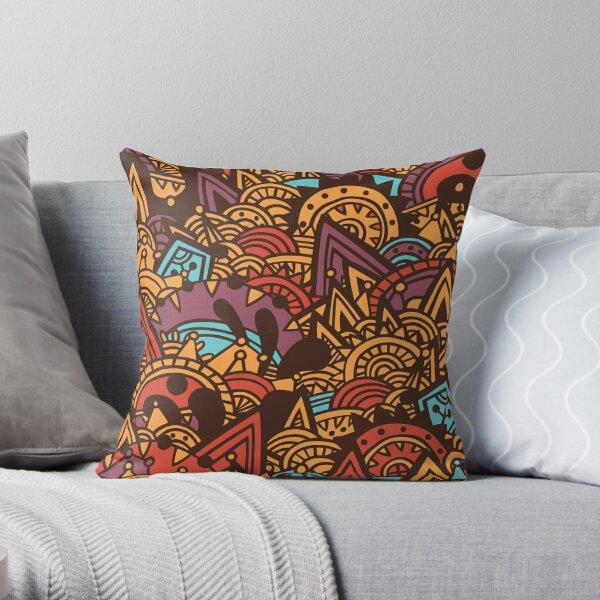 Mayan Fantasy Throw Pillow