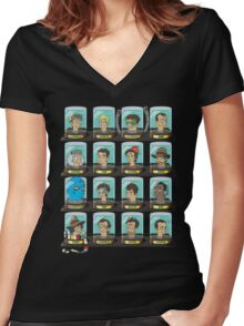 Doctorama Women's Fitted V-Neck T-Shirt