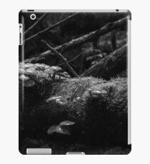 Untitled (Fungi on a log - in monochrome) iPad Case/Skin