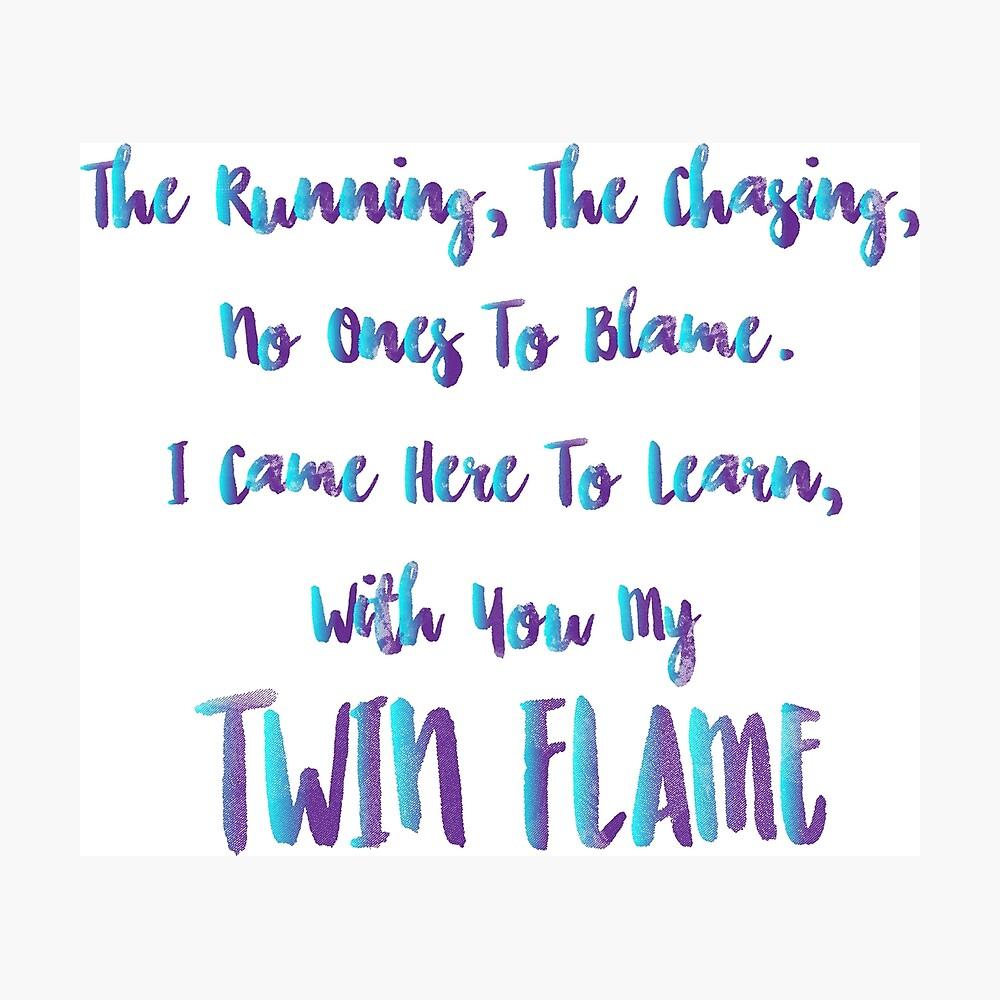 Zwillingsflammenunterricht Fotodruck