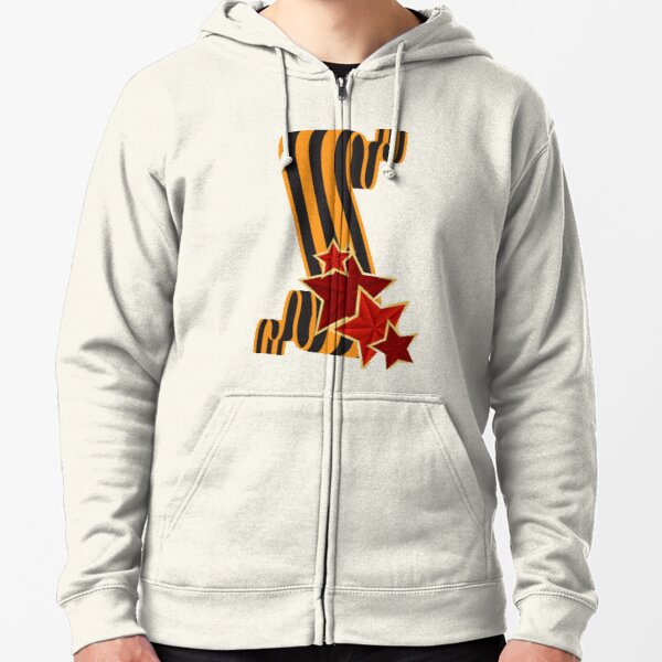 9 Мая: Victory Day is a holiday that commemorates the victory of the Soviet Union over Nazi Germany in the Great Patriotic War Zipped Hoodie