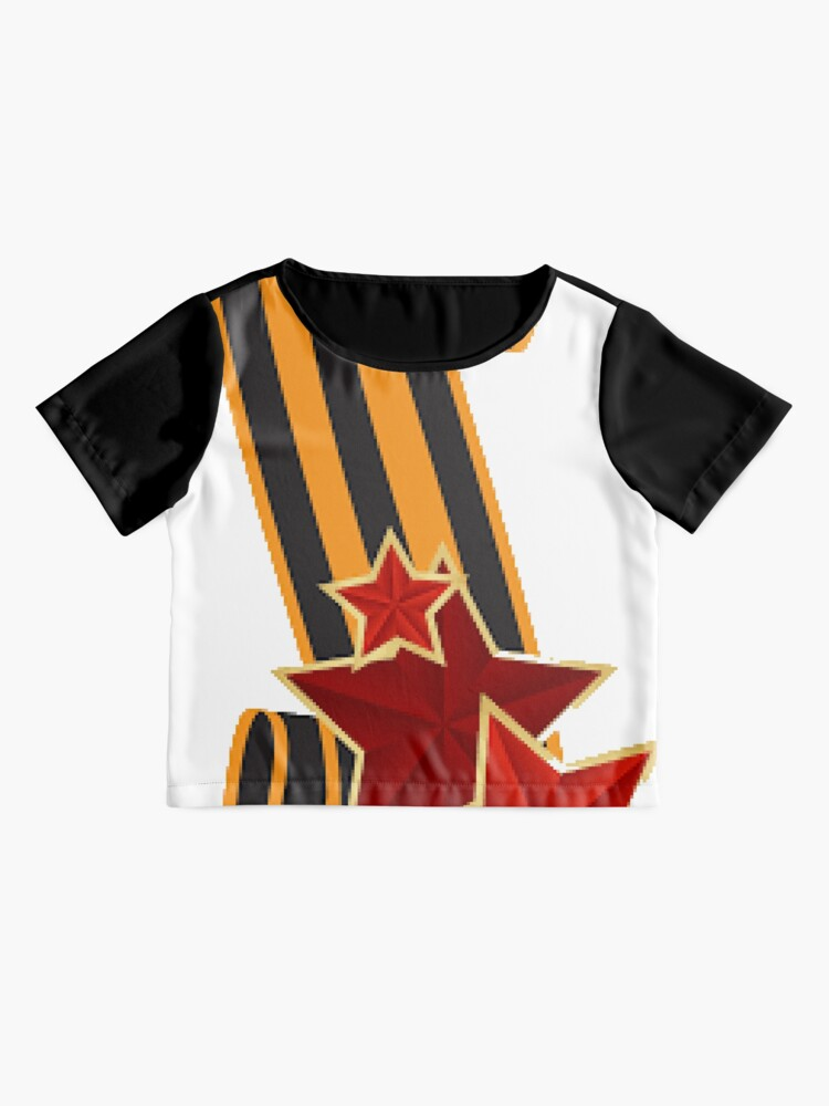 Alternate view of 9 Мая: Victory Day is a holiday that commemorates the victory of the Soviet Union over Nazi Germany in the Great Patriotic War Chiffon Top