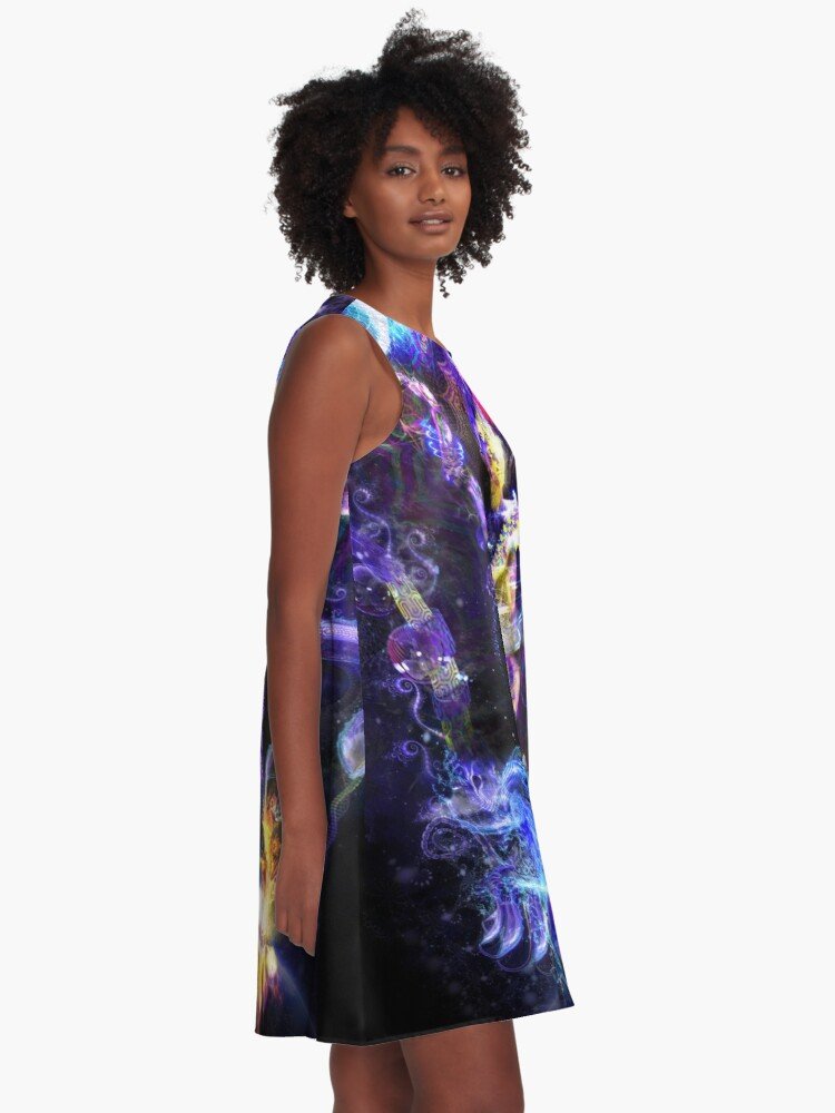 Alternate view of Balancing Duality A-Line Dress