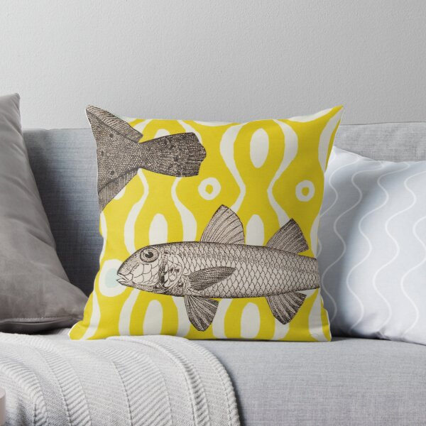Curious Fish Throw Pillow