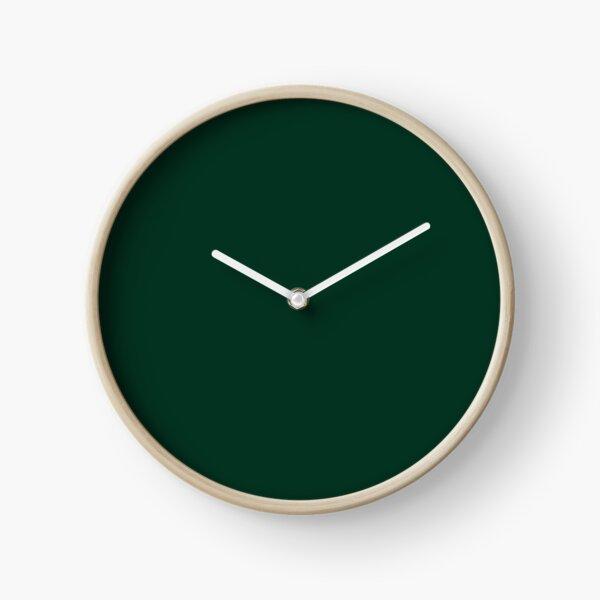 Dark Green Clock