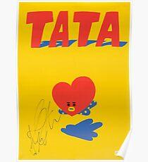 BT21 - TATA (SIGNED VER.) Poster