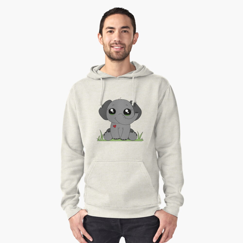 best friends - elephant Pullover Hoodie Front