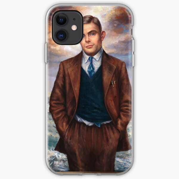 """Alan Turing"" by Maxime Xavier iPhone Soft Case"