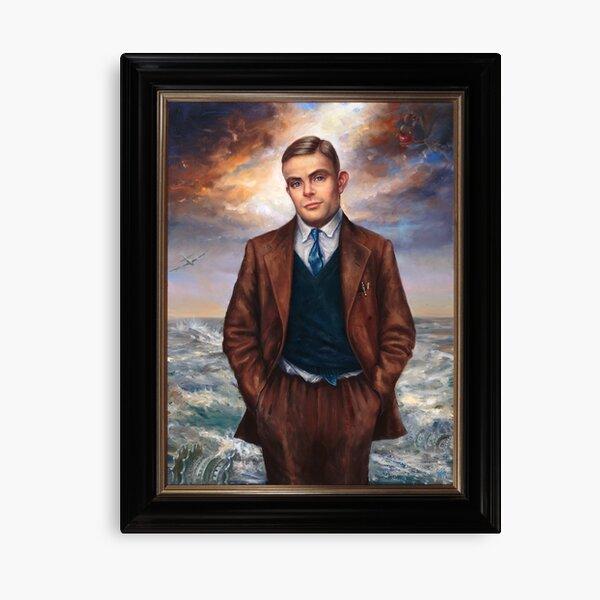 """Alan Turing"" by Maxime Xavier Canvas Print"