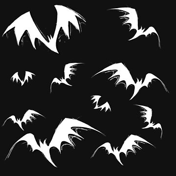 Bats on black by EmiDeClam