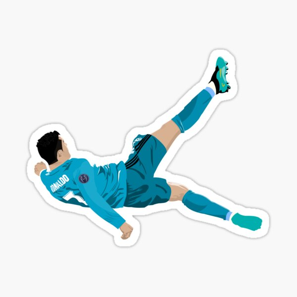 Cristiano Ronaldo Bicycle Kick Sticker