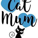 Cat Mum - Blue Hearts by catloversaus