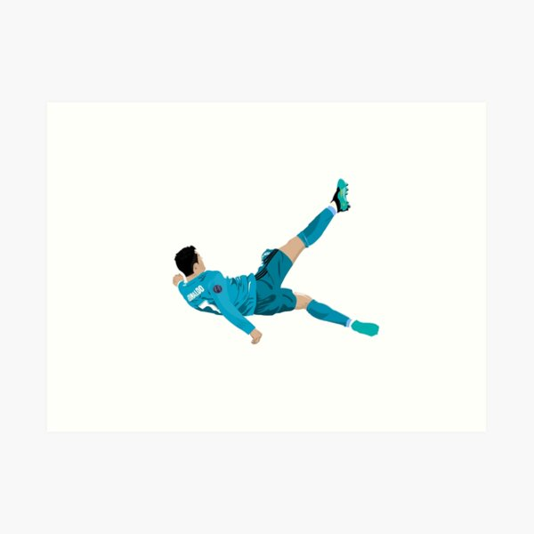 Cristiano Ronaldo Bicycle Kick Art Print