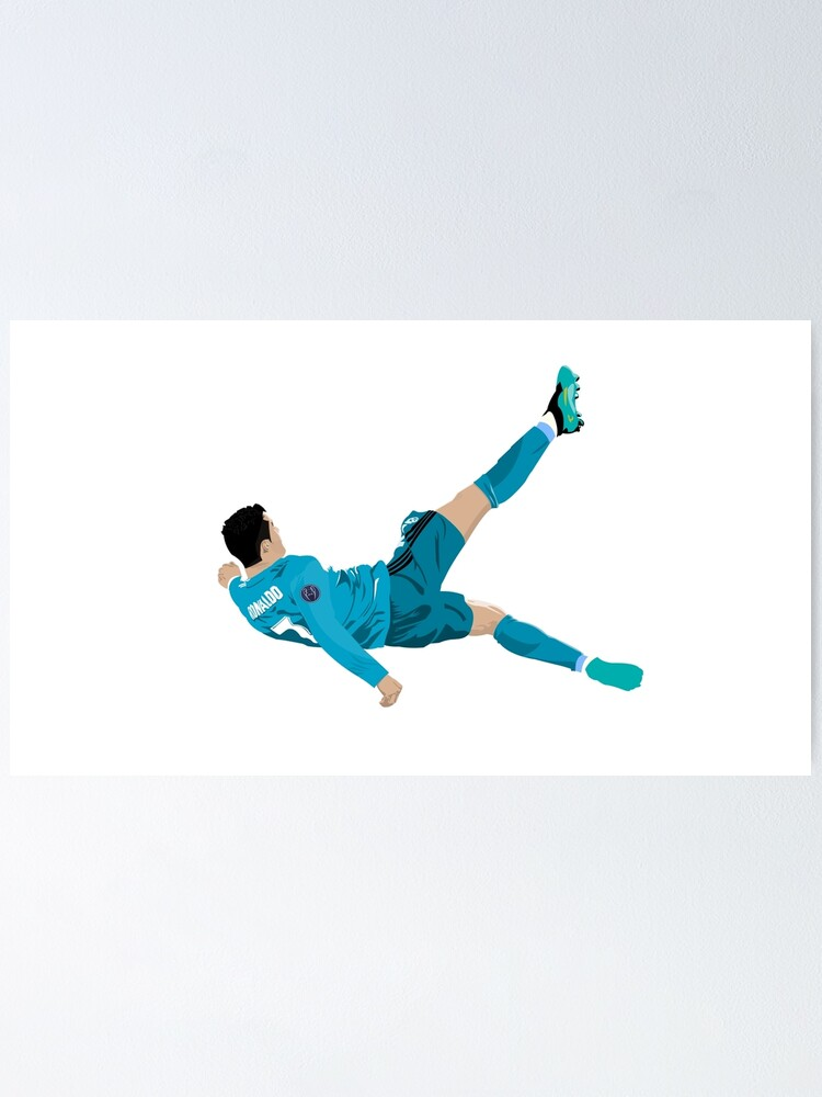 Cristiano Ronaldo Bicycle Kick Poster By P00ptart Redbubble