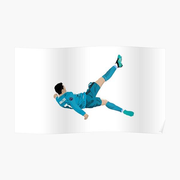 Cristiano Ronaldo Bicycle Kick Póster