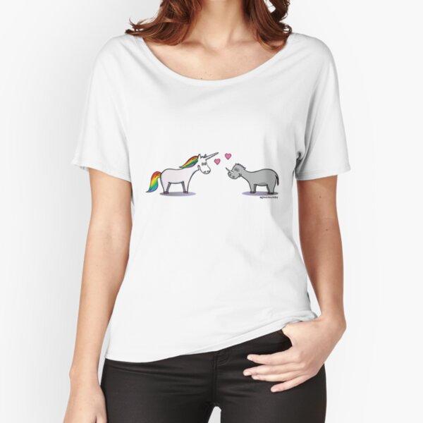 Verliebtes Einhorn und Nashorn Loose Fit T-Shirt