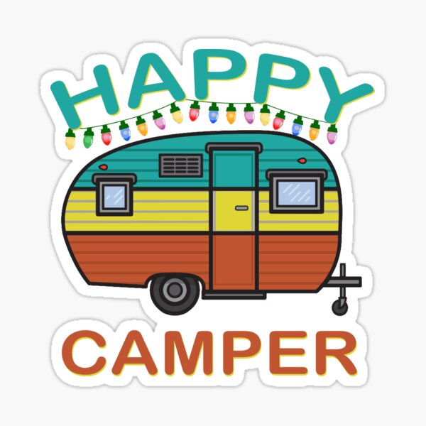 Happy Camper Fun For The Whole Family Camping Sticker