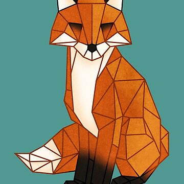 Origami fox by rakelittle