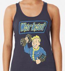 Workout til you Fallout Racerback Tank Top
