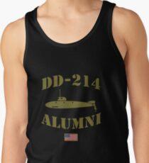 DD214 US Military Alumni Veteran Naval Submarine Tank Top
