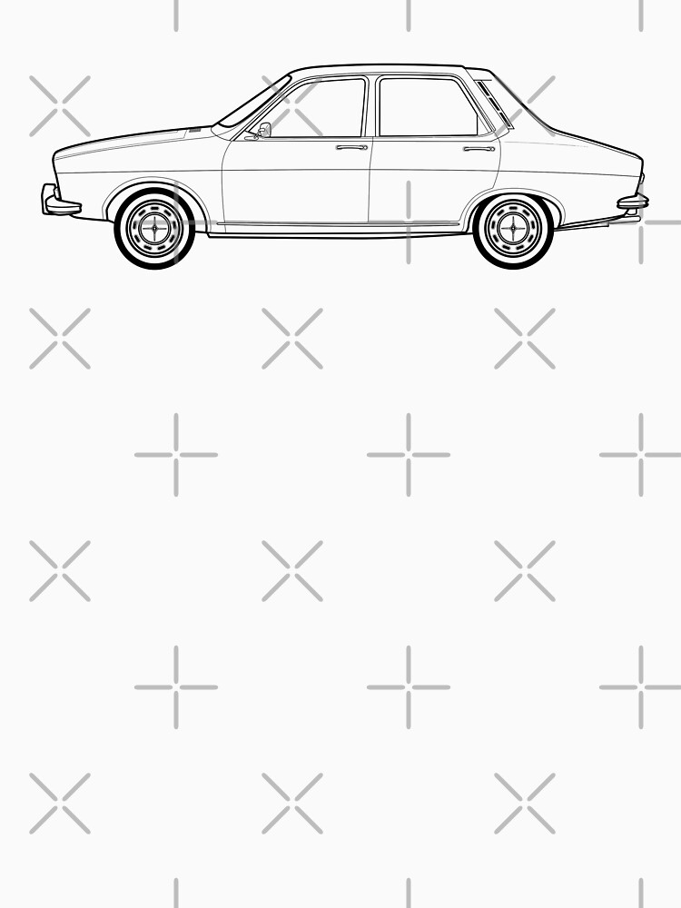 Renault 12 Classic Car Outline Artwork Classic T Shirt By