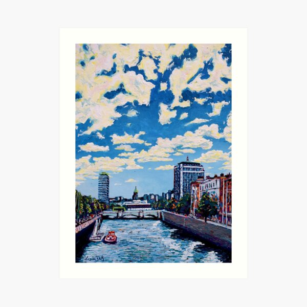 Liffey Clouds, Dublin, Ireland Art Print